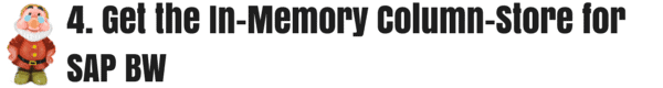 4. Get the In-Memory Column-Store for SAP BW