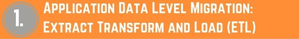 Application Data Level Migration - Extract Transform and Load (ETL)