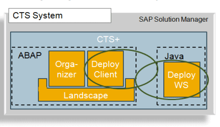 Configure transaction STMS to use a Deploy Web Service that is provided by the non-ABAP system.