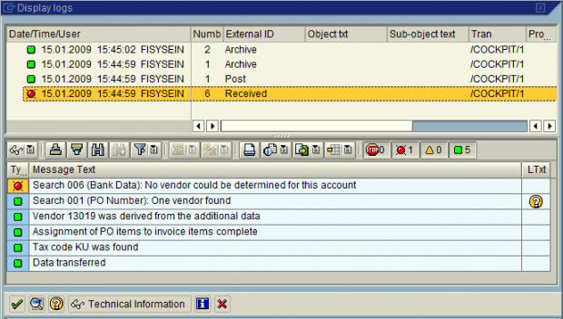 Screengrab System has identified an issue with the vendor bank account