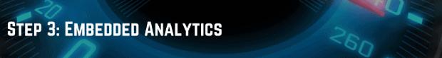 Step 3 Embedded Analytics
